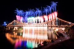Great Balls of Fire!!! (My_Serendipity) Tags: bridge colour night river landscape fireworks brisbane awe sparks storybridge canon1022 riverfire brisbanemeetup canon50d wilsonsoutlook heatherleereid