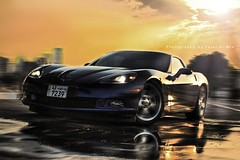 C6 (Talal Al-Mtn) Tags: road street blue light sky orange sun cars car clouds canon automobile shot cam great gear tire location double system automatic kuwait manual rims left corvette breaks vette comp exhaust c6 drift intake corsa zo6 corvettec6 canon450d lm10 inkuwait corvettec6zo6  bytalalalmtn