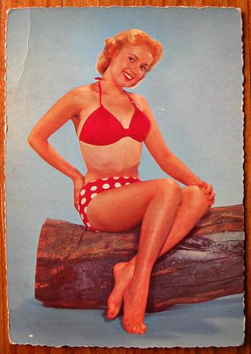 Vintage bikini postcard
