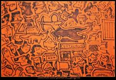 Il centauro (El Peregrino) Tags: orange disegno arancione telo centauro centauros