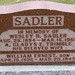 Grave Marker for Wesley Harris Sadler and His wife Alfretta Gladys Elizabeth Trimble and their son William Ernest Sadler