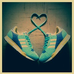 Z + X = Love (Cherrybomb Ink) Tags: ink rip sneakers trainers reflective kicks adidas vignette limitededition footpatrol cherrybomb atoz canons5 iphone3g bestcamera cherrybombink adidasconsortium londonsneakerboutique iphonephotoediting