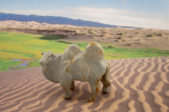 The Camel's Hump (panavatar) Tags: ceramic landscape desert handmade dunes camel clay bactriancamel animalfriends panopolycreations panopolyetsycom