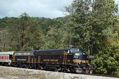 Oh Those Beautiful F Units (jpmueller99) Tags: trains wm railroads elkinswv funit wvc dieselengines f7a westernmarylandrr touristtrains heritagelocomotives newtygartflyer