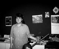 self portrait with dotara (bweston23) Tags: portrait white black art self photography photo room instrument dotara