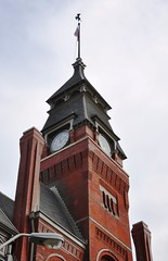 Pullman clock tower (christiaan_25) Tags: sky chicago building brick tower history illinois october factory historic clocktower pullman restoration traincars pullmanspalacecarcompany