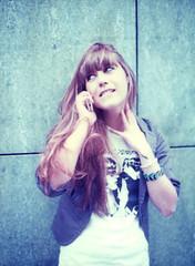 calling / arousal. (kaleakte) Tags: portrait girl mediumformat polaroid phone series roberta arousal feelings statesofmind mamiyam645 polaroididuv wwwkaleaktealtervistaorg callingproject
