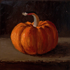 Pumpkin Gourd - sold (fRiedl aRt) Tags: art pumpkin gourd oil friedl rockford masonite artfriedl