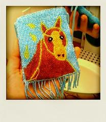 Beaded horse purse