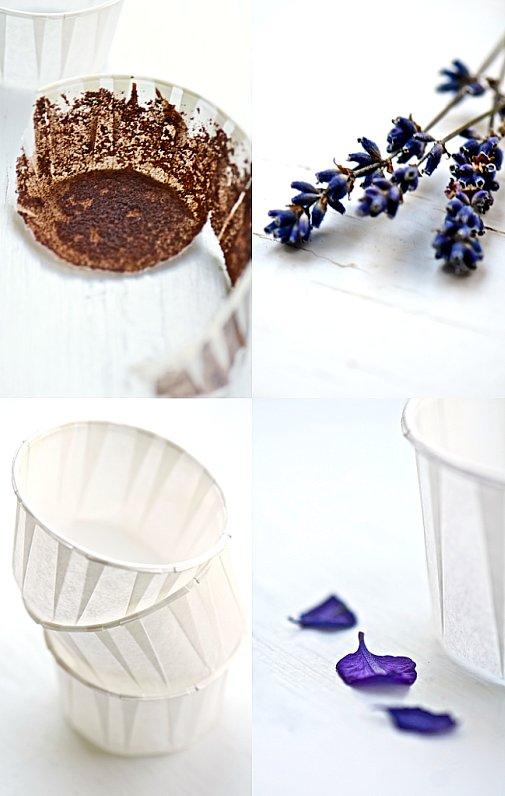 lavender cupcake collage