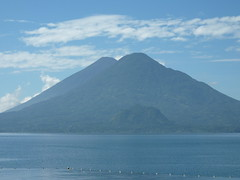 One of the volcanoes across lake Atitlan.