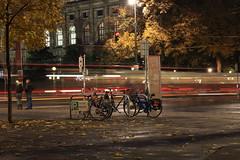 (simon zalto) Tags: vienna wien street longexposure autumn fall bike bicycle night austria traffic herbst streetphotography cartrails
