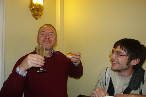 Drinking in Odessa - champagne and caviar