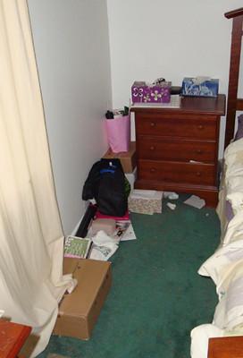 messy bedside