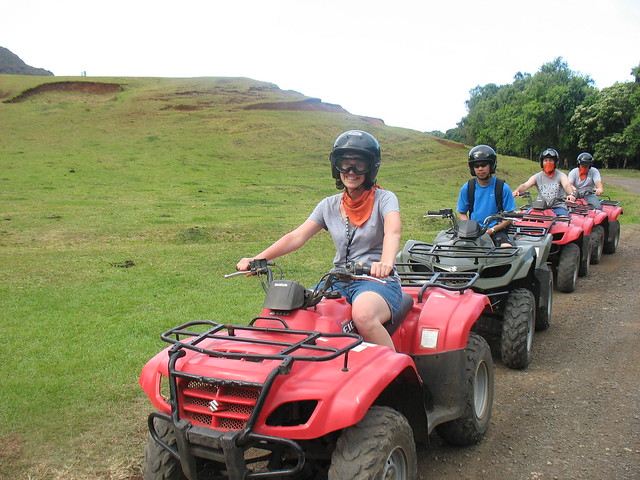 me on an ATV at Kualoa Ranch