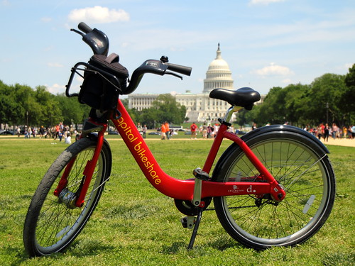 Capital Bikeshare on the Mall