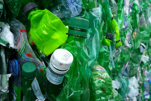 a marriage of green bottles