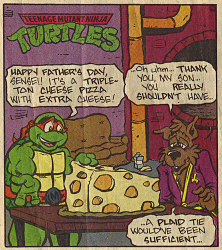 Teenage Mutant Ninja Turtles { newspaper strip } .. EXTRA CHEESE - isolated :: 06201993