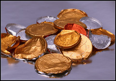 chocolate coin wrappers