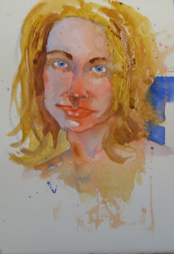 "Watercolor Portrait - ""Judith"""