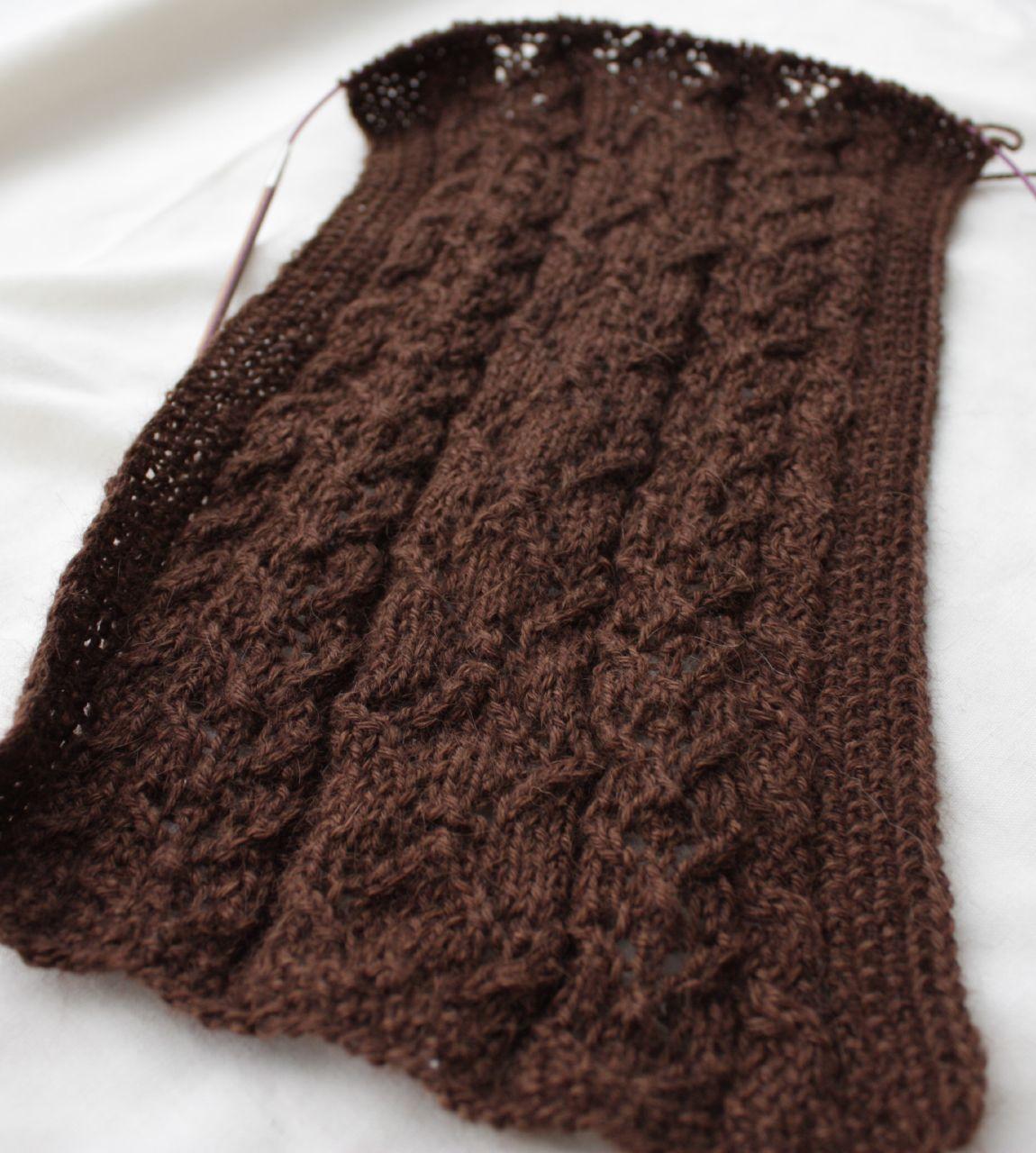 cocoa lace scarf