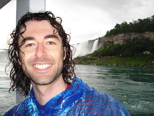 A little wet after a close encounter with the falls