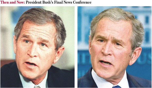 President Bush then and Now