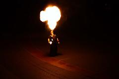 Fireball (Shutterbug Fotos) Tags: seattle festival night fire wintersolstice fireball seattlecenter winterfest spittingfire seattlewintersolsticefirefestival