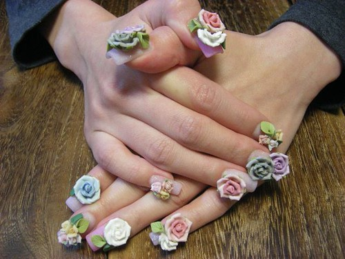 nail 3D flower nail art design gallery nail art designs gallery