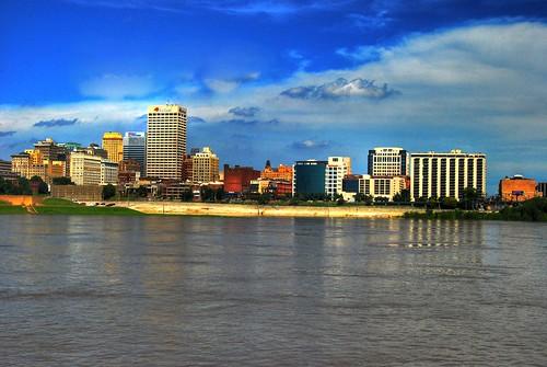 blue sky river downtown tn memphis hdr misssissippi memphistennessee nikond600 fujix100s noelpennington
