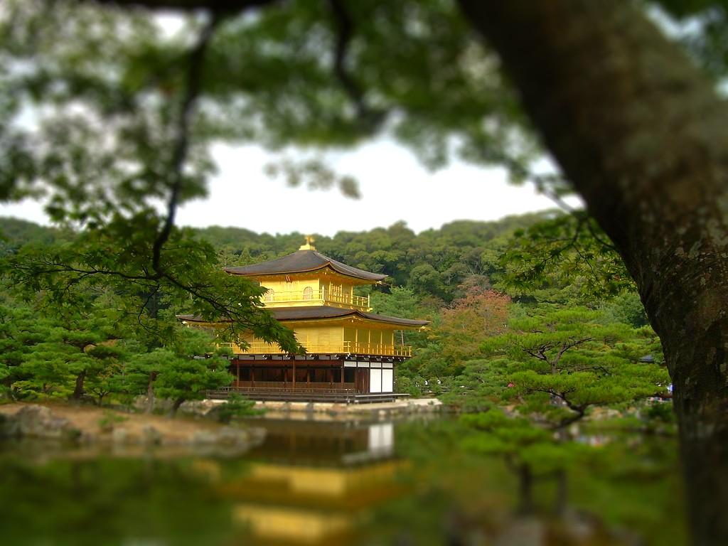 El Pabellón Dorado de Kyoto Tilt Shift