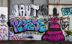 Jaut, Please, Dress Up (funkandjazz) Tags: sanfrancisco california graffiti please dressup characters ya th opt shak jaut