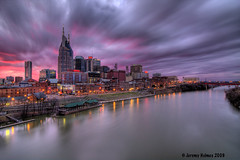 Nashville,TN skyline (ir guy) Tags: city water skyline night tn nashville tenn countrymusic hdr rivercity longexposer musiccity 40d 82708 nashvilleskylinescom jeremyholmesphotography