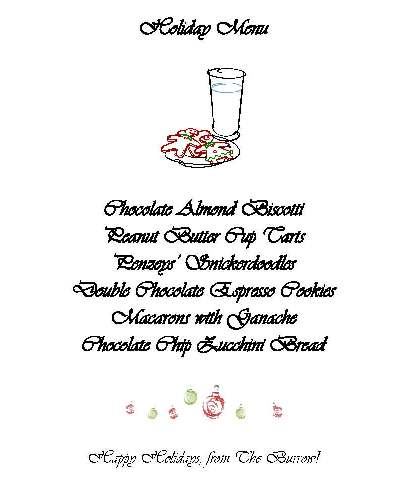 Mailed menu
