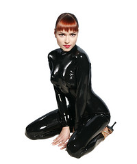 Irena ponaroshku black shiny rubber latex catsuit (asan'hecon) Tags: girls black hot sexy girl lady tv shiny rubber 400 mtv views ladys latex 400views catsuit irena ponaroshku