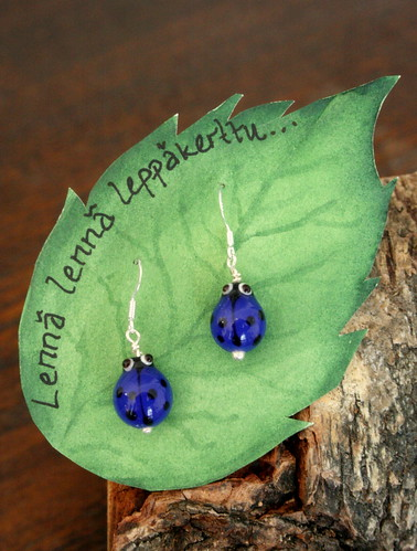 Blue Ladybird earrings