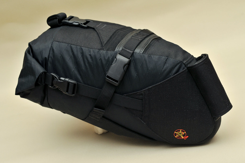 "The ""Escape Pod"" ultralight rack-less bikepacking saddle pack"