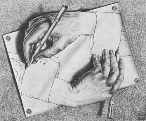 Drawing Hands, 1948 Signature