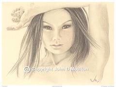 Those Eyes (The Art of John D Moulton) Tags: portrait pencil eyes cream colorpencil femaleform sensualart johndmoulton