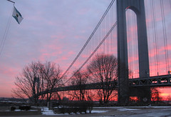 Sunrise at the Narrows - Seen on the Evening News (Puzzler4879) Tags: friends ny newyork sunrise sunrises statenisland soe narrows verrazanonarrowsbridge blueribbonwinner otw fortwadsworth justonelook cherryontop anawesomeshot mycameraneverlies overtheexcellence a580 goldstaraward rubyphotographer theroyalgroup canona580 photographersgonewild canonpowershota580 powershota580 goldenheartaward flickrianworld dragondaggerphoto dragonflyawards richmondcountynewyork
