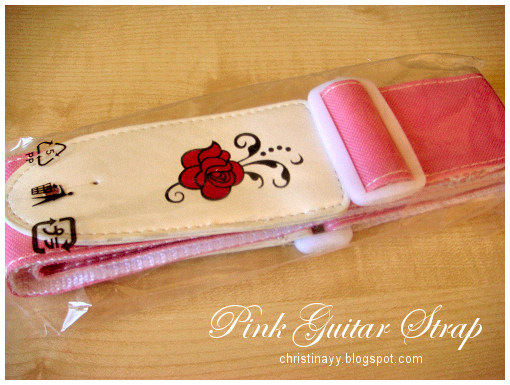 Gypsy Rose: Pink Acoustic Guitar & Pink Guitar Strap