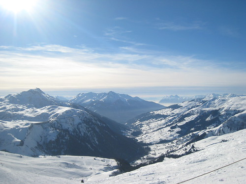 Skiing, Les Contamines, French Alps