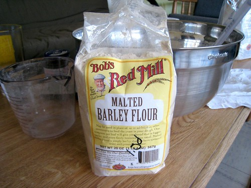 Barley malt flour instead of syrup