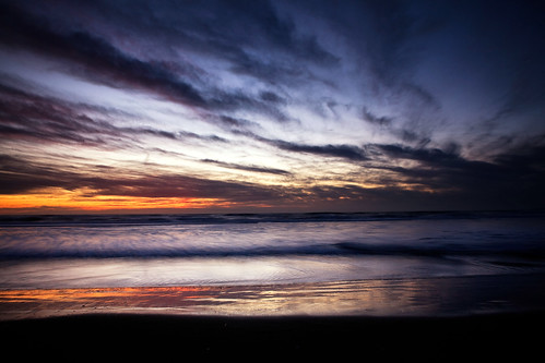 Sunset at Ocean Beach (by Andrew Ng Images)