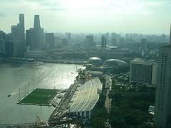 1559- Beautiful View of the Esplanade & Grand Stand (HaYnCaNdi808) Tags: singapore ferriswheel singaporeflyer asia08