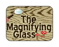 the magnifying glass logo