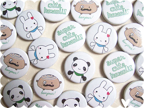 Super Cute Kawaii badges