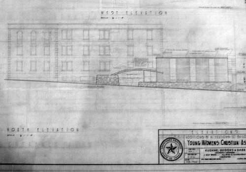 Original drawings for 1956 addition.