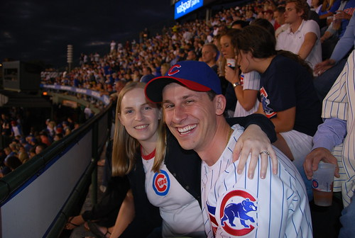 Lauren and Dan at Wrigley Field