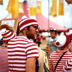 Where's Wally? (mister sullivan) Tags: portrait film festival 35mm canon square 50mm grain glastonbury f18 2009 whereswally buttonmooon possiblykodakfilm maybejessopsfilm